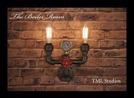 view in gallery plumbing pipe lighting fixtures wall sconce totally