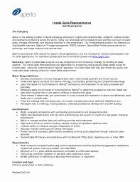 Sales Representative Resume Sample Sale Representative Resume Sample Lovely Inside Sales Resume 24