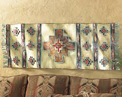 southwestern rug metal art wall hanging with decor decorations 4