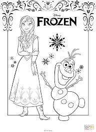 Anna From The Frozen Movie Coloring Page Free Printable Coloring Pages