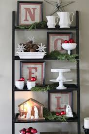 Christmas - shelf decor idea for Christmas - like the style of the  letters/black frame/white and red
