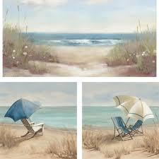 on metal wall art beach scenes with 3 piece beach scene wall art set 23x23 walmart