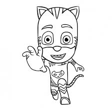 Small Picture Coloring Pages Colour In Gekko From Pj Masks Coloring Pages