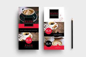 Cafe Menu Template Dl Cafe Menu Rack Card Template In Psd Ai Vector Brandpacks