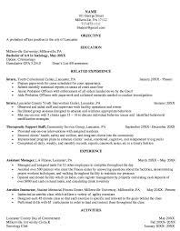 Assistant Probation Officer Sample Resume Stunning Pin By Danielle Cochis On It's The Law Pinterest Resume