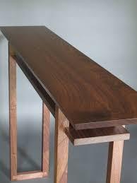 handmade modern wood furniture. Narrow Hallway Table For Entry Console Table-Handmade Wood Furniture By Mokuzai Handmade Modern S