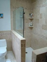 half glass shower door stone walk in shower half wall shower copy of fl shower half wall photo sharing diy glass shower door installation
