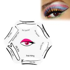eyeliner stencil eye cat models templates shapers kit for winged smokey eye for makeup beginner 6