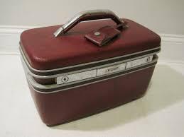 samsonite train makeup case travel bag hard s vine burgundy 14 x8 x7