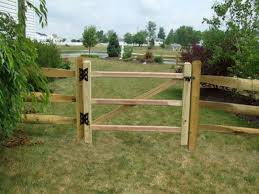 diy split rail fence gate