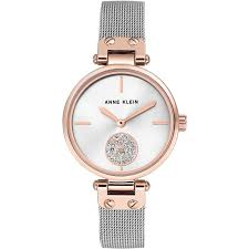 Anne Klein Heidi Ladies Watch (AK/3001SVRT) White | WatchShop.com™