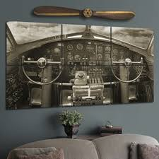 giant wood b 17 pit wall mural