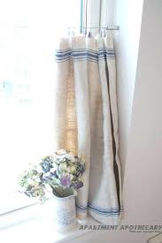 vintage blue curtains vintage linen grain sack cafe style curtain like how they are hung no vintage blue curtains