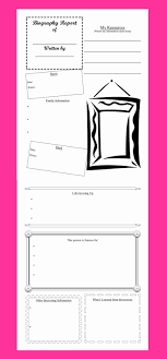 Biography Book Report Template New 17 Best Images About