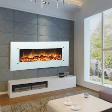 touchstone 80002 ivory 50 inch electric wall mounted fireplace is a beautiful wall mounted electric fireplace with realistic flames and contemporary white