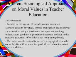 internalization of islamic values in education  islamic values 23 different sociological approaches on moral