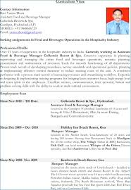 Resume Objective For Hospitality Industry Ceciliaekici Com