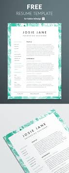 92 Indesign Resume Template 2018 Indesign Resume Template Free