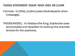 how to write a great literary essay ppt thesis statement essay main idea or claim
