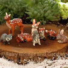 garden animals. Miniature Forest Animals Garden -