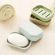 1PCS Plastic Soap Dish Plastic Bathroom Creative Double draining ...