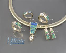 australian opal inlay jewelry by mark hileman