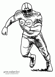 Small Picture Football player coloring page Print Color Fun