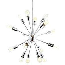 16 light chandelier light chrome sputnik chandelier bari 16 light chandelier