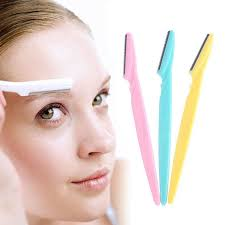 eyebrow shaper. 3pcs/set colorful useful eyebrow shaper razor blades facial hair remover shaver r