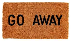 Great Kempf Go Away Doormat, 16 By 27 By 1 Inch