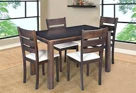 solid wood dining table and chair 4 dining set with cushioned chairs solid wood round dining