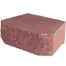 river red concrete retaining wall block