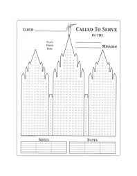 Lds Missionary Temple Countdown Calendar Chart