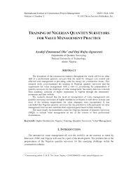 Proposal And Dissertation Help Quantity Surveying Quantity