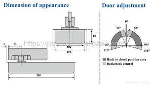light duty glass door fittings 90kg floor spring f 5
