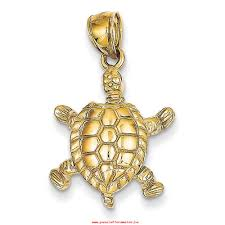 handtekening gerecht 14k yellow gold solid polished 3 dimensional moveable turtle pendant measures 26 3x16 8mm vmsk9s