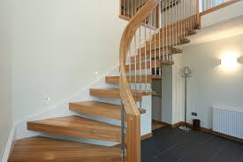 Collection Of solutions Wonderful Oak Unpolished Curved Open Staircase with  Simplistic About Contemporary Banister