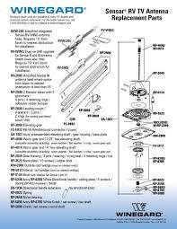 order winegard sensar parts sensar rv tv antenna replacement parts sheet