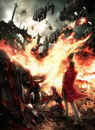 the artwork was created by the games art director yusuke naora who drew on personal experience and the games themes of war and artist creates mobile homes