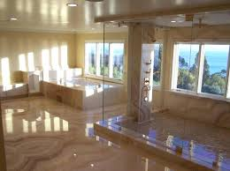 modern master bathroom designs pictures design with built in bathtub and large windows under recessed lights ideas m