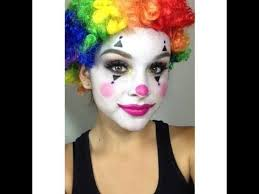how to do lady a 39 s creepy applause clown makeup for easy clown makeup tutorial clown makeup arty