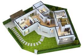 detailed house floor 1 cutaway 3d model max obj