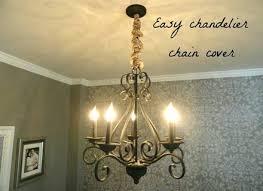 chandelier chain cover nest white silk