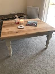 solid chunky pine coffee table