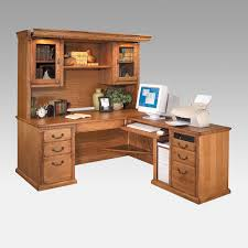 image of computer desk l shaped with hutch