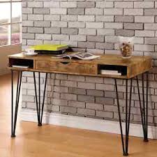 Mid Century Industrial Rustic Design Home Office Computer Writing