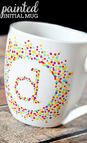 Mug Design Ideas Painted Initial Mug Do You Love Handmade Gifts Ideas Then Youll Love