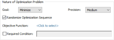 Setting The Optimization Precision