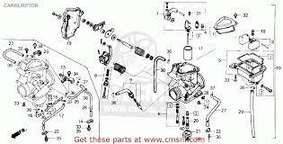 honda trx250 fourtrax 250 1986 (g) usa carburetor schematic 1985 honda trx 250 wiring diagram at Honda Trx 250 Wiring Diagram