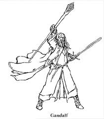 Small Picture Gandalf clipart coloring page Pencil and in color gandalf